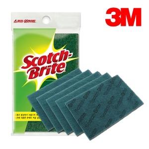 3M 다목적 수세미 5개입 주방용 설거지 화장실 청소