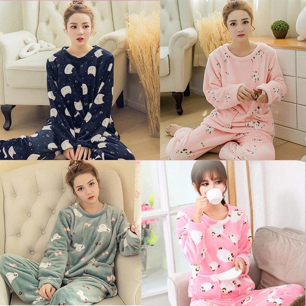 KJ 노네임 수면잠옷세트/수면 잠옷/여성용수면잠옷