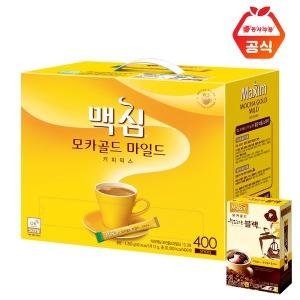 맥심모카골드 400T 커피믹스+맥심 부드러운 블랙 20T