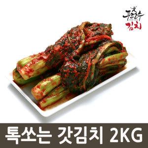 (국산) 김치 톡쏘는 갓김치 2kg 100%여수돌산갓사용