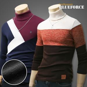 가을신상 목폴라티/기모 남자옷/니트/터틀넥목티셔츠