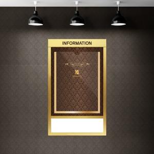 슬림디자인게시판 고급매탈 아파트/엘레베이터용 1칸
