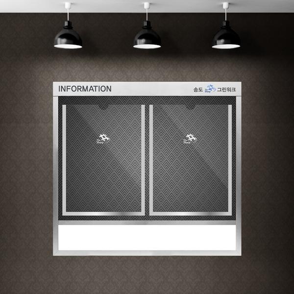 슬림디자인 게시판 고급메탈 아파트 엘레베이터용 2칸