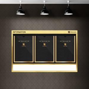 슬림디자인 게시판 고급메탈 아파트 엘레베이터용 3칸