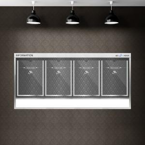 슬림디자인 게시판 고급메탈 아파트 엘레베이터용 4칸