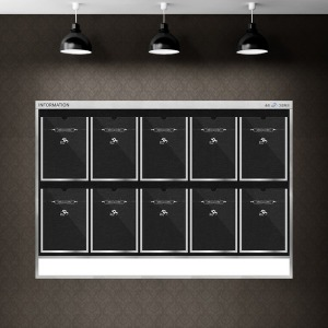 슬림디자인게시판 고급메탈 아파트/엘레베이터용 10칸