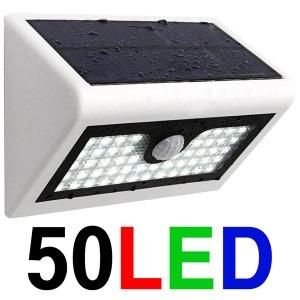 50 LED 태양광 정원등 센서등 태양열 전등 조명 벽 등
