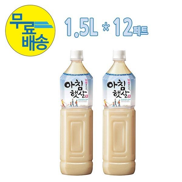 웅진  아침햇살 1.5L (12페트) 한박스 무료배송