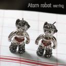 아톰귀걸이 로봇귀걸이 로보트귀걸이   큐빅포인트 침부분 알러지방지 티타늄귀걸이