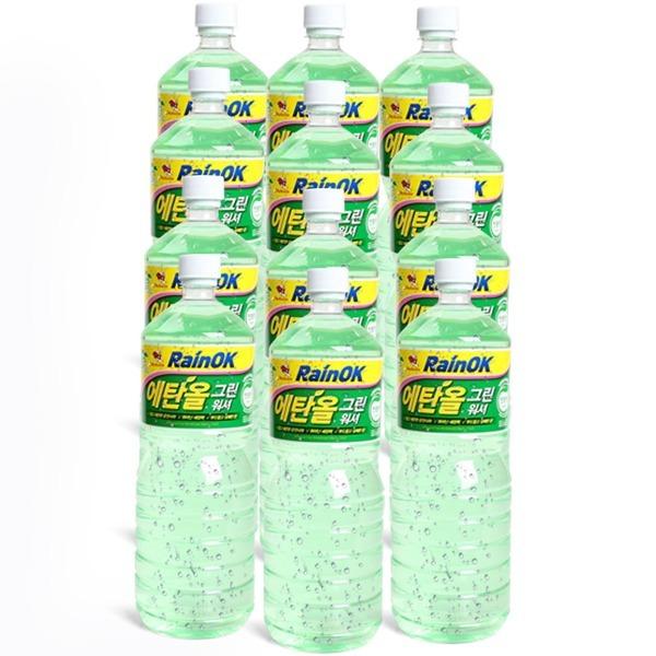 불스원 레인OK 에탄올 그린워셔액 1.8L 1박스(12개)