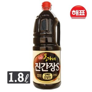 옹가네 진간장S 1.8L 간장 조림 국 찌개 볶음