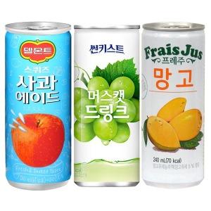 델몬스 스퀴즈 사과에이드 240ml x 30캔 음료수
