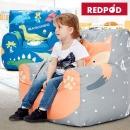 레드팟 아기쇼파 유아빈백 어린이의자 바른자세 쇼파