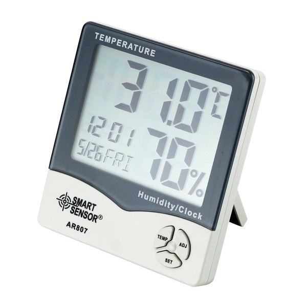 ARCO 온습도계 AR-807 정밀 온도 습도 시계기능