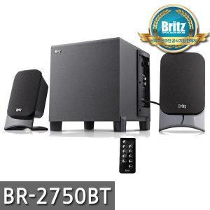 브리츠 BR-2750BT 유무선 컴퓨터스피커 2.1 채널 블루투스 스피커 / 무선리모컨 / USB/SD 메모리 입력포...