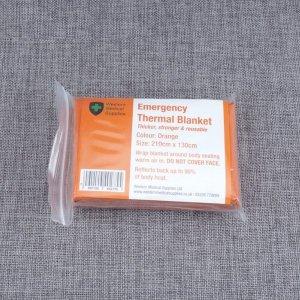 오렌지 비상 담요-재난 구급 응급 구조 SOS 피난 용품
