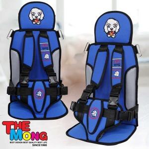 몽구 아동 보조시트 3점식안전벨트 아동 보조벨트 블루