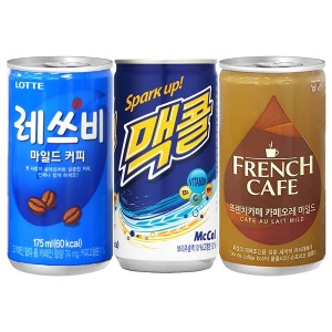 프렌치카페 카페오레 30캔 음료수 캔커피 맥콜 레쓰비