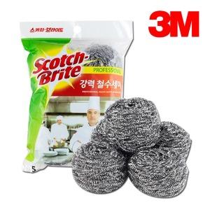 3M 강력 철수세미 5입 설거지 화장실 청소 주방용품