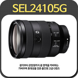 소니 FE 24-105mm F4/SEL24105G/올인원 고급 G렌즈