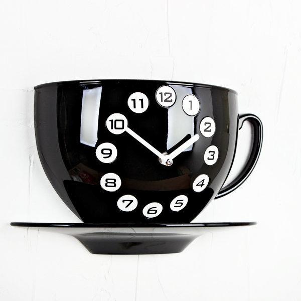 (ktk024) 커피잔 시계 (블랙)