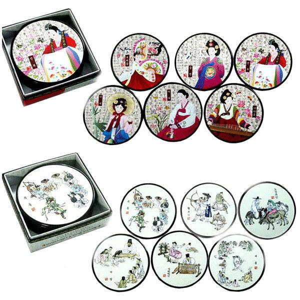 한국 전통 코스타 컵받침셋/한국방문객외국인친구선물