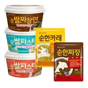 순쌀짜장면/파스타/순한짜장/카레