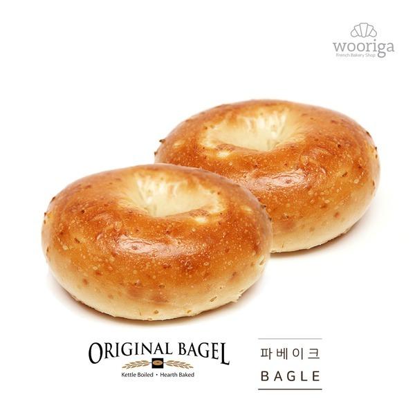 (미국) 프리미엄 어니언 베이글 113gx6개 냉동빵 생지