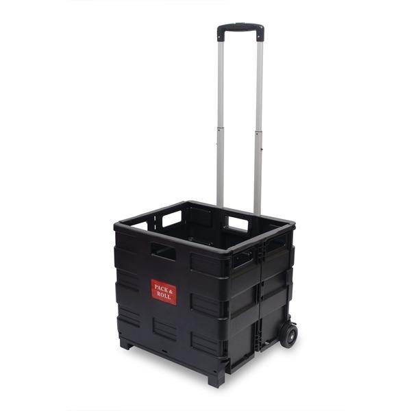 박스형 접이식 핸드카트 대형 MI-BCW35(블랙)