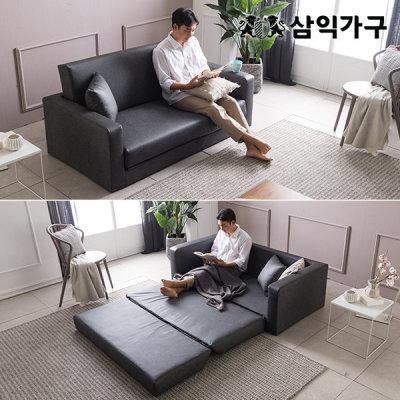 [삼익가구] 삼익가구 다비 가죽 접이식 소파베드/침대+방수