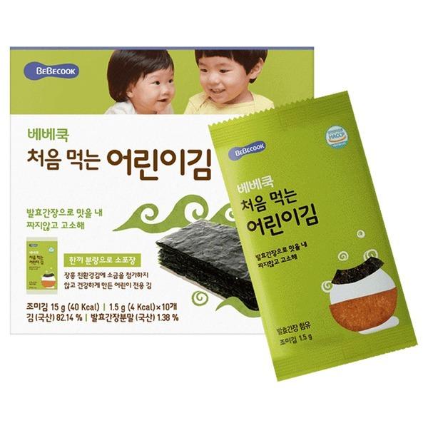 베베쿡 처음 먹는 어린이 김 오리지널