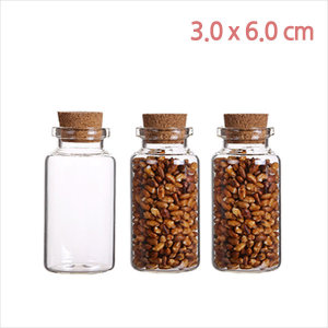 kj2690/미니콜크(30x60)/샘플용/소형 유리병/바이알병