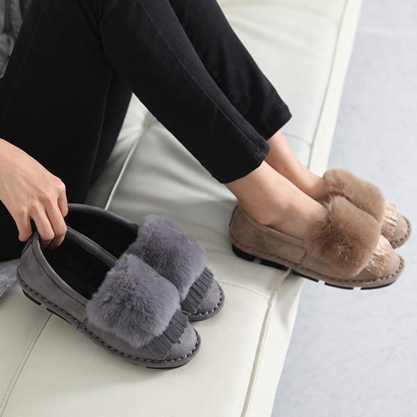 베리슈 여성 겨울 털단화 털신발 털신 모카신여자신발