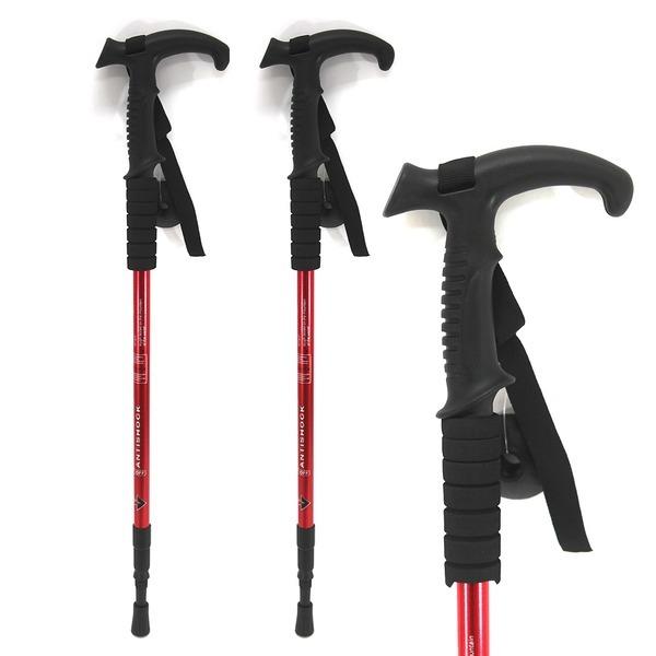 (1+1)등산스틱(B타입)I자형-레드 등산스틱 지팡이 스틱