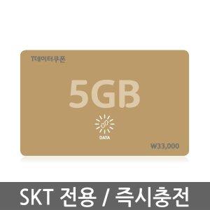 (SK텔레콤) T데이터쿠폰 5GB / 실시간 충전