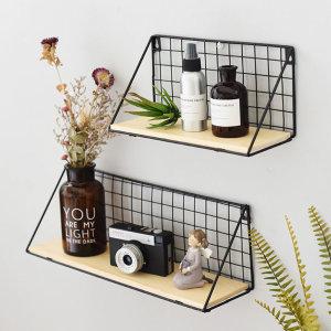 원목 벽선반 인테리어 선반 벽걸이 책꽂이 수납 주방