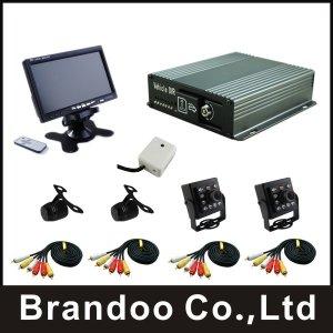 (해외) 4채널 DVR 블랙박스 모니터 카메라 포함 풀셋
