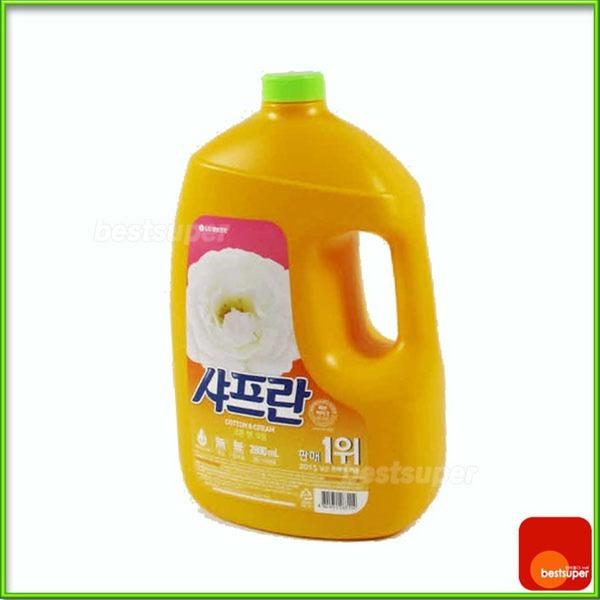 섬유유연제/샤프란/코튼/용기/2.8Lx4개/M1 /무료배송