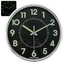 무소음 야광크롬 28cm 블랙 인테리어벽시계