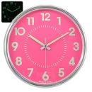 무소음 야광크롬 28cm 핑크 인테리어벽시계