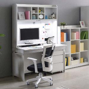 (현대Hmall)도로시 1인용 각도조절 책상+3단서랍장+스탠드 USB매립