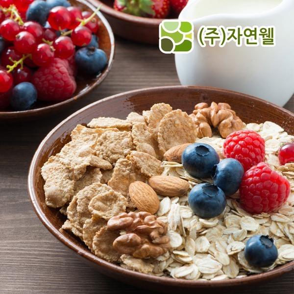 자연웰/무첨가오트밀500g/무첨가 건강곡물시리얼250g