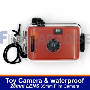 토이카메라 35mm 롤필름 전용 및 방수카메라-레드