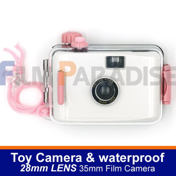 토이카메라 35mm 롤필름 전용 및 방수카메라-화이트