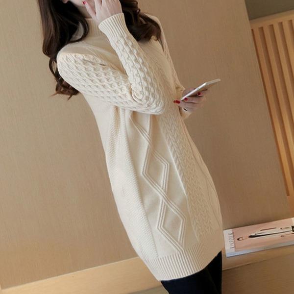 반 목폴라 니트 티셔츠 여자 스웨터 TS05