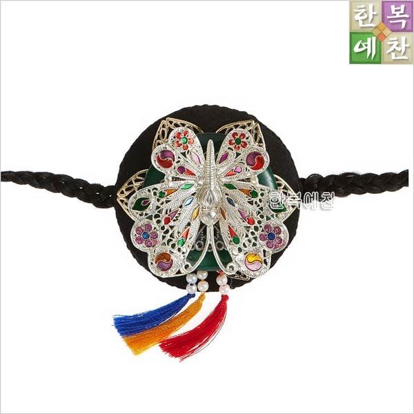 한복소품/배씨끈164/올림머리/비녀/꽃신/한복신발