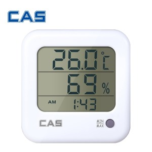 카스 TE-303 디지털 온습도계/시계 알람기능