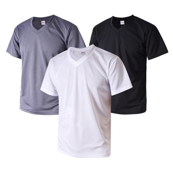 (티팜) 티팜 시원한 코오롱 쿨론 V넥 Cool 티셔츠