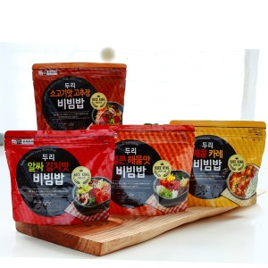두리두리 전투식량 비빔밥 4종(4개) 1세트