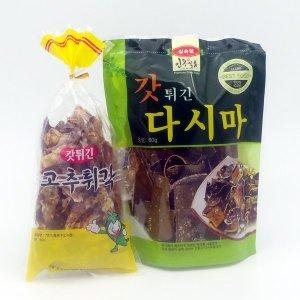 인동식품 고추튀각 갓튀긴다시마 60g